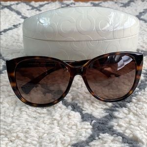 Coach Faye Cateye Dark Tortoise Sunglasses